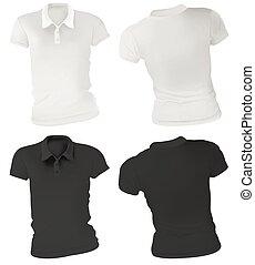 Women Polo Shirts Template