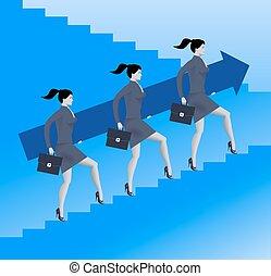 Women power business concept