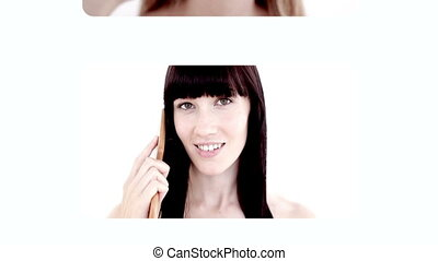 Women prettify themselves - Animation with women prettify ...