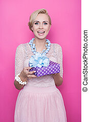 Women, purple, pink, gift