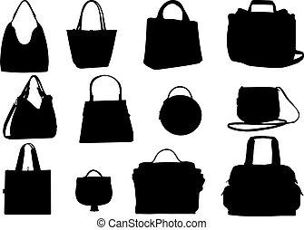 women purses silhouette