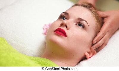 Women Receiving Head Massage