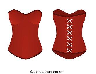 Women red corset