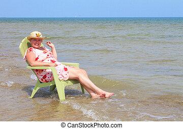 Women Relaxing in Lake
