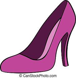 Women shoes icon cartoon