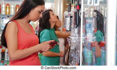 Women Shopping in Beauty Department