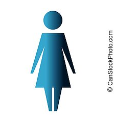 women silhouette isolated icon