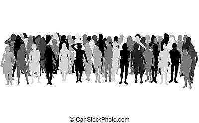 Women silhouettes .