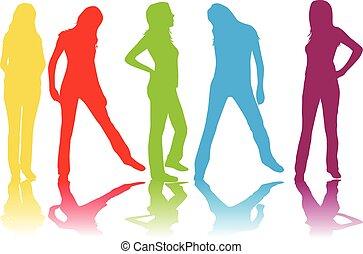Women silhouettes