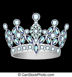 women silver crown on a black background