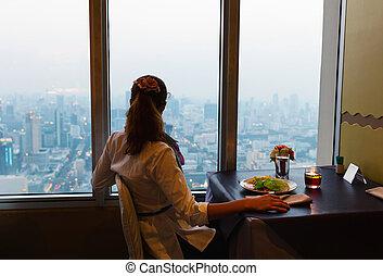 Women sitting in cafe