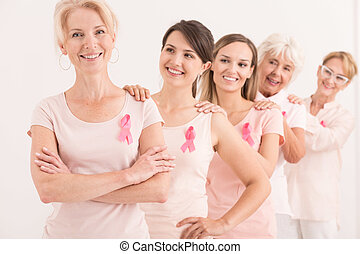 Women supporting each other in fight against cancer