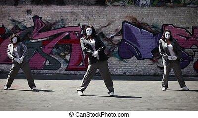 Women team dancing.