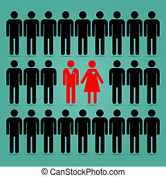 Women tend to choose men