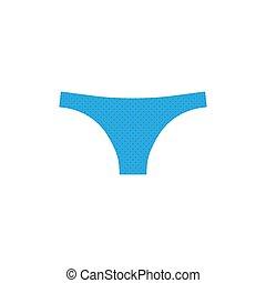 Women underwear icon. Vector illustration, flat design.