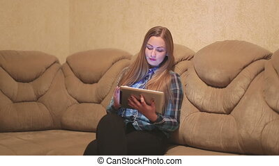 women using ipad digital tablet for social network in room