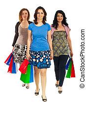 Women walking at shopping