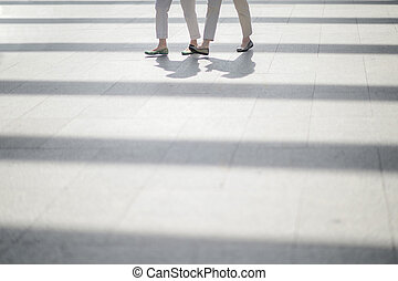 Women walking on the floor