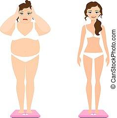 Women weight loss illustration