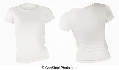 Women White T-Shirt Design Template