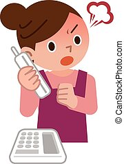 Women who get angry on the phone