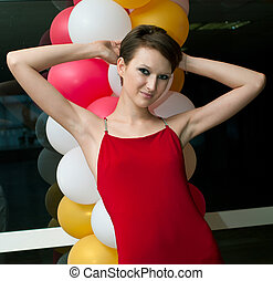 women with balloons