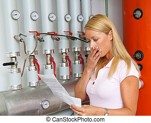 Women with billing of heating costs for heating