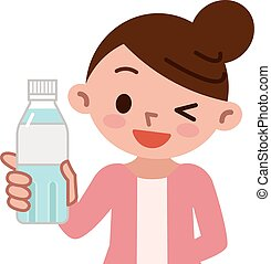 Women with bottled water