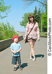 women with boy