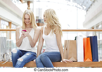 Women with cellphone
