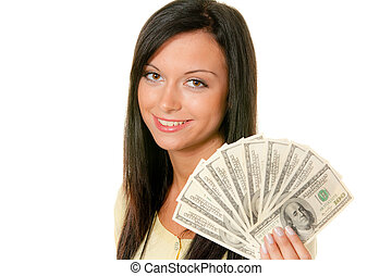 Women with dollar bills