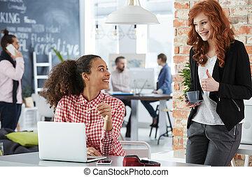 Women working in creative agency