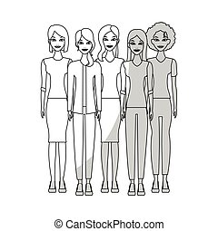 young adults people icon image - women young adults people...