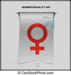 womens, égalité, jour, fanion