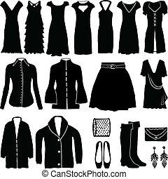 womens, abbigliamento, moderno
