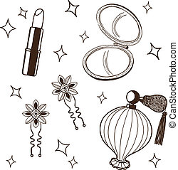 Women's accessories set.