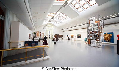 Women's Art Exhibition in premises of New Arena in Moscow, Russia.
