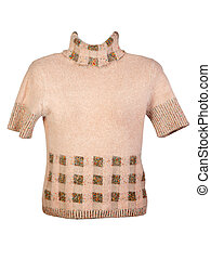 Women's beige sweater with a pattern