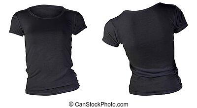 women's blank black t-shirt template - women's blank black...
