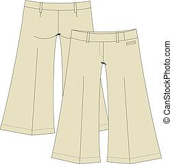 womens casual gaucho trousers