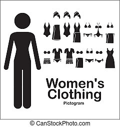 womens clothing over white background vector illustration