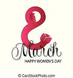 Women's day card with light background