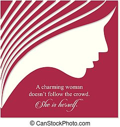 Women's day card with red background
