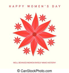 Women's day greetings card with light pattern background