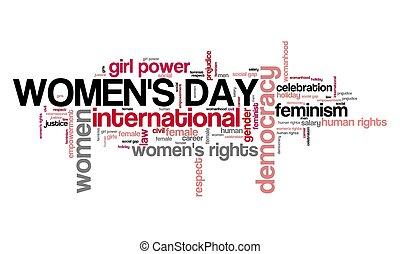 Women's Day keywords - feminism concept word cloud.