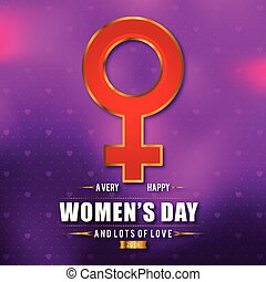 Women's day typogrpahic card with pink pattern background