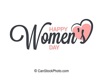Womens day vintage lettering. 8 march design on white background