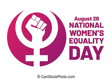Women's Equality Day. August 26. Holiday concept. Template ...