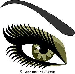 Women's eyes green