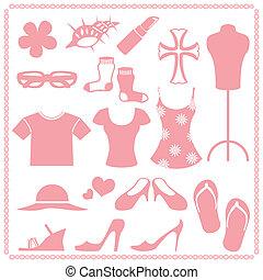 Women\\\'s fashion icon sets